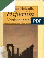 Hölderlin, Friedrich. Hiperión (1)