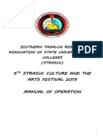 Guidelines for the 5th Culture and Arts Festival 2019 Edited July 2, 2019 Rsu