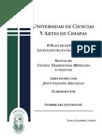 Manual Cocina Tradiconal Mexicana I 5A
