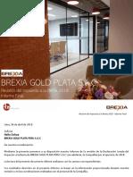 BREXIA - Revisión Del Impuesto a La Renta 2018 - Informe Final