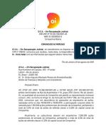 2019.08.21_Oi SA - Comunicado Ao Mercado Victor Adler e VIC DTVM_port