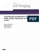 Experimental Quantification of the Tactile Spatial Responsivity of Human Cornea