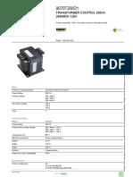 Industrial Control Transformers (Machine Tool)_9070T200D1