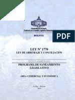 Bolivia - Ley de Arbitraje y Conciliación