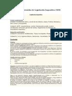 Programa y Contenidos de Legislación Impositiva CENS 451