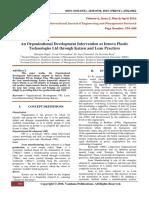 AnOrganizationalDevelopmentInterventionAtInnovaPlasticTechnologiesLtdthroughKaizenAndLeanPractices(394-400)