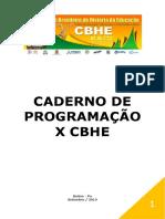 Caderno de programação X CBHE