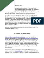 Global Health Issues-2019