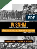 Programação do IV SNHM