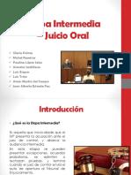 Audiencia Intermedia - Juicio Oral