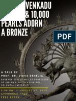 Talk on Ancient Indian Bronze Sculptures 17 August
