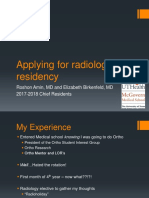 Applying for radiology residency.pptx