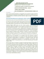 Análisis de Discursos Deterministas y Estigmatizantes Sobre Los Jóvenes.