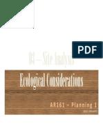03 - Ar161 Ecological Considerations