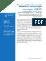 manejo farmacologico preeclampsia