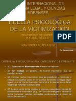 HUELLA PSICOLÓGICA DE LA VICTIMIZACIÓN