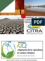 Evidencias del cambio climatico en la region del maule
