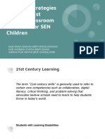 Teaching Strategies Applying 21 Century