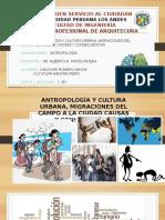 Antropologia Urbana y Migracion  del Campo a la Ciudad.pptx