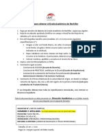 Requisitos Para BACHILLER