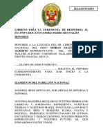 Libreto Despedida Pase a La Situación de Retiro St1 Chocano