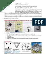 3D Drawing Optical Illusion Anamorphic