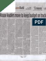 Business World, House leaders move to keep budget on track.pdf