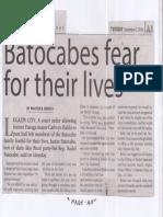 Manila Times, Sept. 3, 2019, Batocabes fear for their lives.pdf