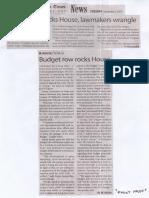 Manila Times, Sept. 3, 2019, Budget row rocks House, lawmakers wrangle.pdf