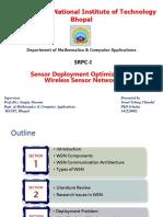 Sensor Deployment Optimization in Wireless Sensor Networks