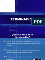 TERMINACIÓN DE CONSULTORIA