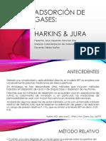 Adsorción de Gases HARKINS JURA