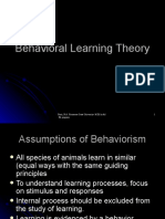 Behavioral Learning Theoryppt