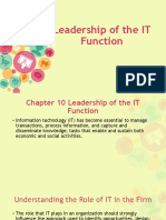 Leadership of the IT Function