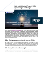 Are Human Rights and Intellectual Property Rights Complementing or Conflicting