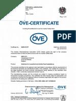 Ove certificates