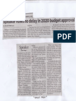 Philippine Star, Sept. 3, 2019, Speaker vows no delay in 2020 budget approval.pdf