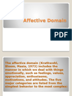 Krathwohl Affective Domain