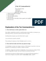 Explanation of the Ten Commandments