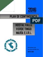 Plan de Contingencia Hostal Valle Verde