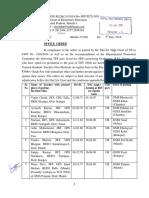 JBT to TGT (Nm) promotion orders 2018 by Vijay Kumar Heer
