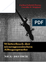 Wörterbuch der nicaraguanischen Alltagssprache. Nica-Deutsch