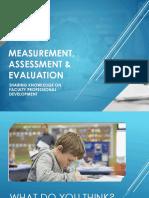 Measurement, Assessment & EVALUATION