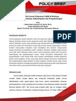 Policy Brief Inovasi Pelayanan Publik Badung