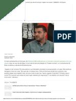 Zé Elias Critica Torcedor Que Cobrou B. Henrique_ _Jogador é Ser Humano_ - 02-09-2019 - UOL Esporte