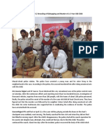Gaurav Rajput IPS | Revealing of Kidnapping and Murder of a 5-Year-Old Child