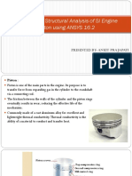 Thermal and Structural Analysis of SI Engine Piston