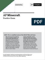 AP Minecraft Practice Exam