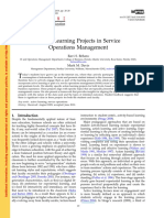 Active Learning Projects in Service Oper