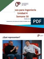 Procesos para Ingenieria - Semana 16 (Unidad 4) .pptx